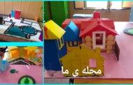 ساخت ماکت محله بهارستان توسط دختران پایه چهارم