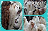 اقامه نماز در مسجد المهدی همراه با گل دختران پایه پنجم دبستان دخترانه رفاه