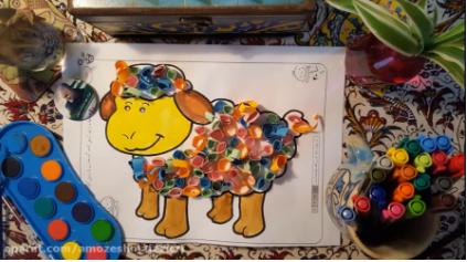 آموزش لوله کردن کاغذ - پیش دبستان پسرانه