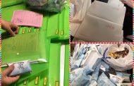تحویل بسته های آموزشی ویژه عید دبیرستان دخترانه رفاه